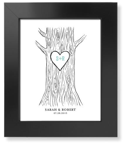 Initial Tree Art Print