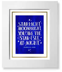 moon and stars starlight art print