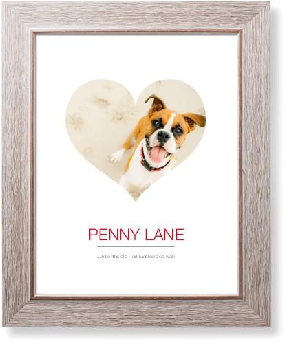 Modern Heart Art Print, Rustic, Signature Card Stock, 11x14, White
