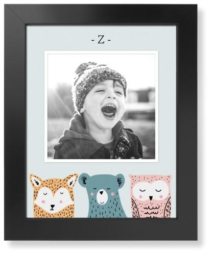 Adventure Animal Heads Art Print, Black, Pearl Shimmer Card Stock, 11x14, Grey