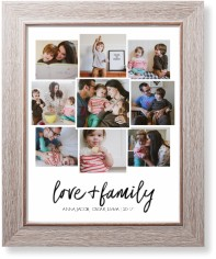 love and family collage art print