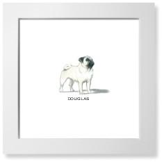 best in show pug art print
