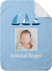 nautical sailboats baby blanket