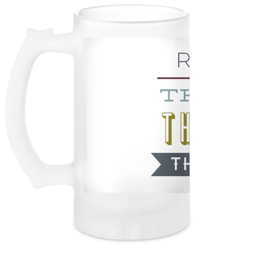 The Man Beer Stein, White