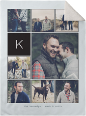 pictogram fleece photo blanket