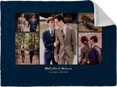 hero gallery collage of five fleece photo blanket