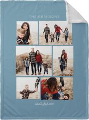gallery montage of memories fleece photo blanket