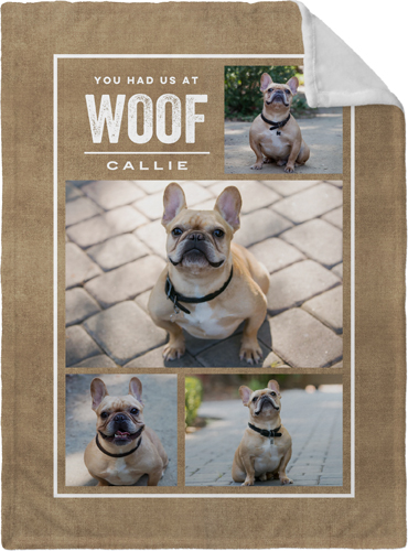 Rustic You Had Us At Woof Fleece Photo Blanket byShutterfly