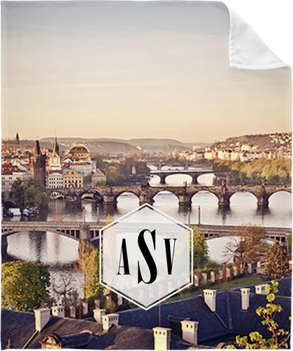 Prague Fleece Photo Blanket, Fleece, 50 x 60, White