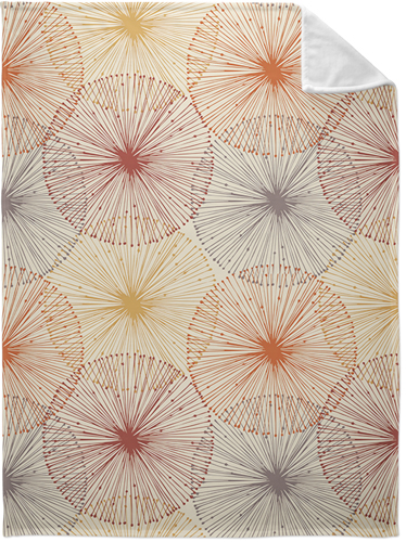 Dandelions Fleece Photo Blanket, Plush Fleece, 60 x 80, Multicolor
