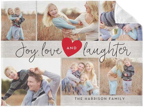 Joy Love Laughter Fleece Photo Blankets Shutterfly