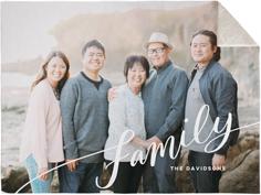 tilted family script fleece photo blanket