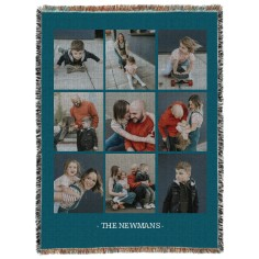 gallery of nine portrait woven photo blanket