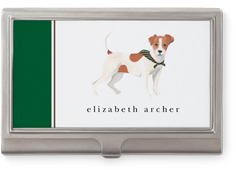 best in show terrier business card holder