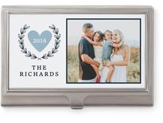 contemporary heart business card holder