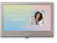 whimsical ombre business card holder