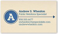 Monogram business cards shutterfly extraordinary initial colourmoves