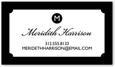 Monogram business cards shutterfly designer colourmoves