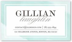 watercolor border calling card