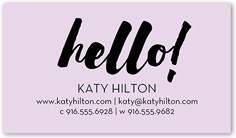 Purple business cards shutterfly custom color palette colors of this design can be customized bold impression calling card reheart Images