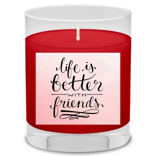 Life With Friends Candle, Fireside Spice, Multicolor