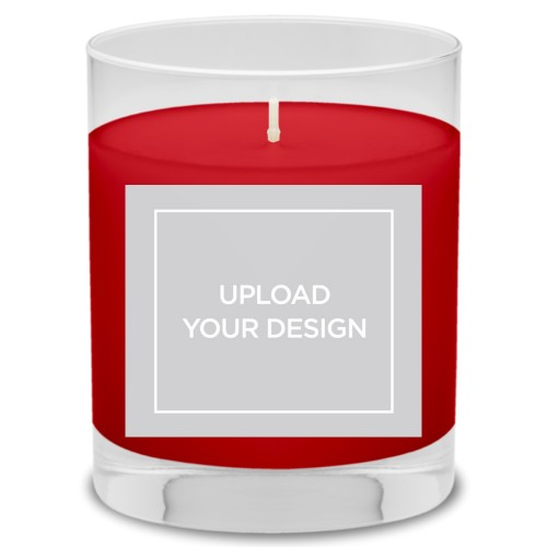 Upload Your Own Design Candle, Fireside Spice, Multicolor