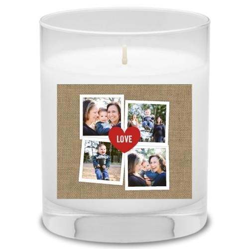 Heart Burlap Candle, Uncscented, DynamicColor
