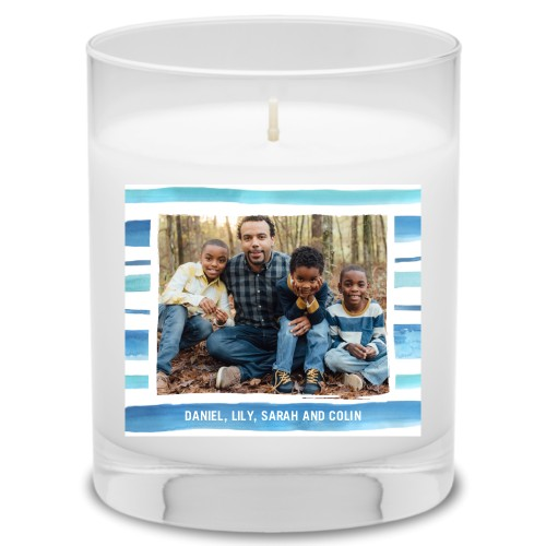 Multi Watercolor Frame Candle
