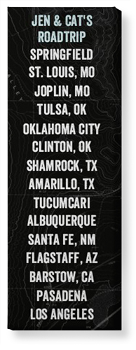 Our Travels Panoramic Canvas Print
