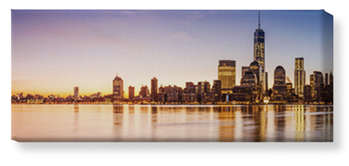New York City Skyline Canvas Print, None, Single piece, 10 x 24 inches, Multicolor