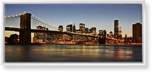 Gallery Panoramic Canvas Print, White, Single piece, 10 x 24 inches, Multicolor