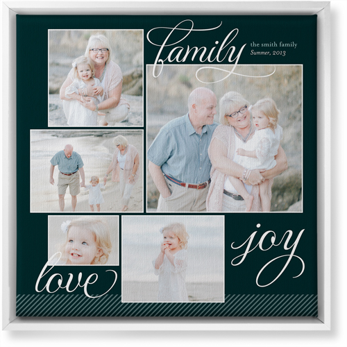 Family Sentiments Canvas Print, CANVAS_FRAME_WHITE, Single piece, 16 x 16 inches, Black