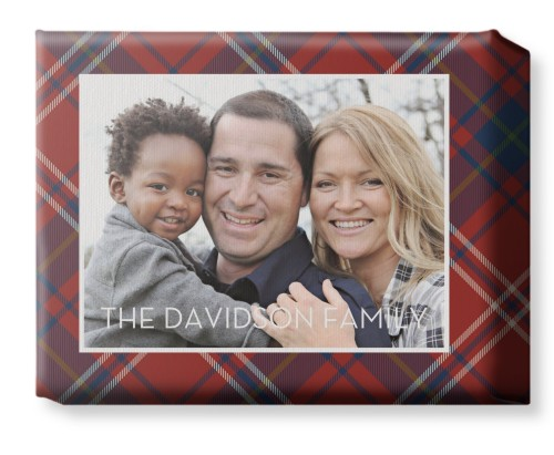 Classic Plaid Horizontal Canvas Print, None, Single piece, 8 x 10 inches, Multicolor