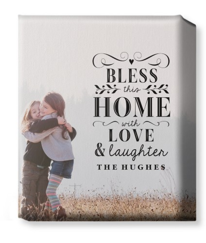 Bless This Home  Canvas Print