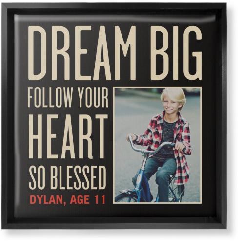 Dream Big Canvas Print, Black, Single piece, 12 x 12 inches, Black