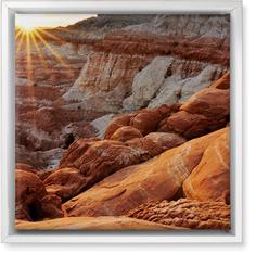 desert sunrise wall art