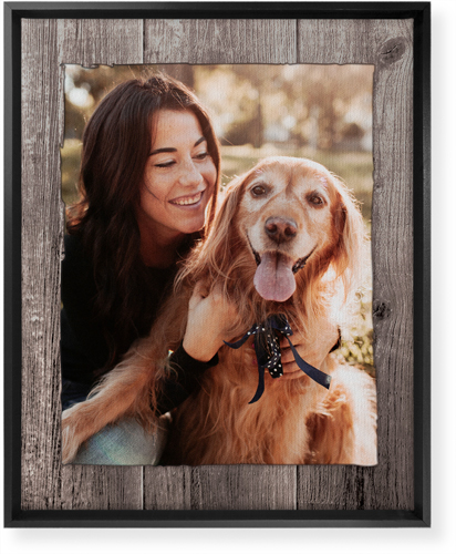 Weathered Wood Frame Vertical Canvas Print, Black, Single piece, 16 x 20 inches, Brown