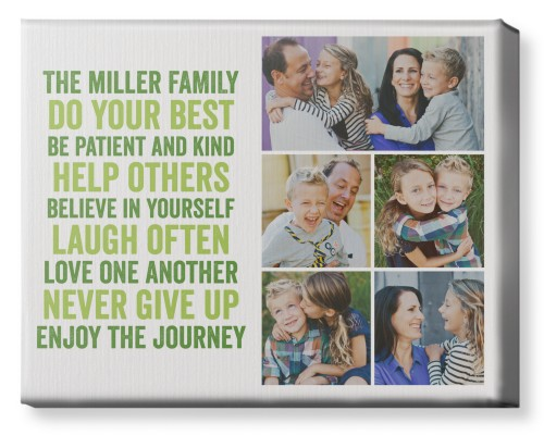 All About Family of Five Canvas Print