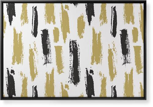 Brushstroke Lines Canvas Print, Black, Single piece, 24 x 36 inches, Multicolor