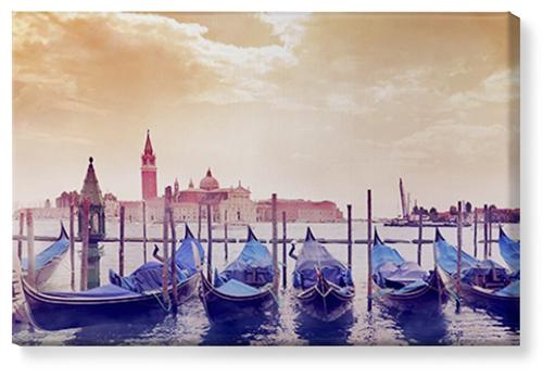 Venice Gondolas Canvas Print, None, Single piece, 24 x 36 inches, Multicolor