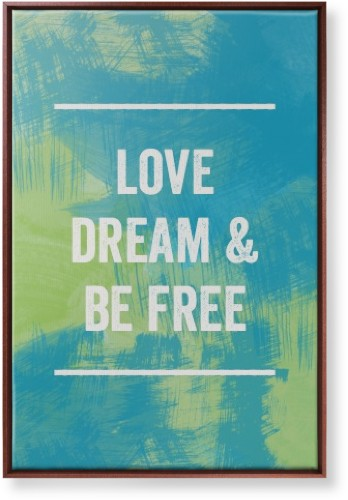 Life Motto Canvas Print, Brown, Single piece, 24 x 36 inches, Blue