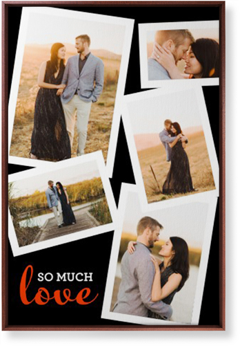 So Much Love Collage Canvas Print, Brown, Single piece, 24 x 36 inches, Black