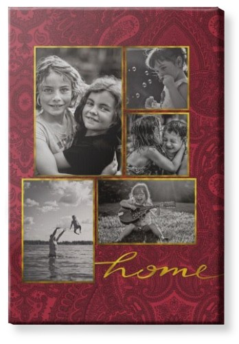 Golden Home Canvas Print, None, Single piece, 24 x 36 inches, Red