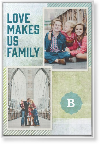 Better Together Canvas Print, White, Single piece, 24 x 36 inches, Blue