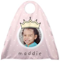 princess crown hearts kids cape