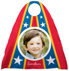 superhero stars red kids cape