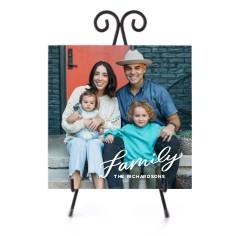 family letters ceramic tile