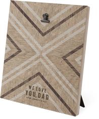 chevron wood clip photo frame