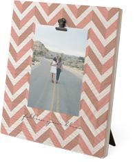duotone chevron clip photo frame