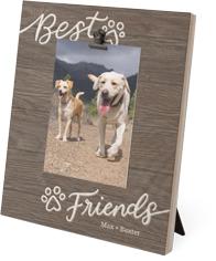 rustic best paw friends clip photo frame